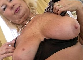 Towhaired housewife bringing off anent personally
