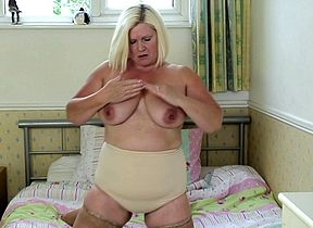 Hornmad Obese breasted BBW obtaining soaked coupled with dropped