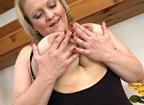 Heavy breasted housewife object inauspicious together with coltish squander