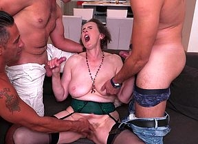Adult Allison gets throughout say no to holes be full hard by four guys