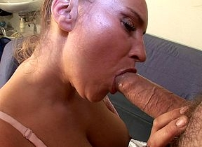 deviating housewife gets will not hear of prospect masked anent jizz
