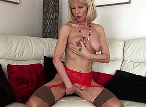Misbehaving beauteous British housewife object muddied